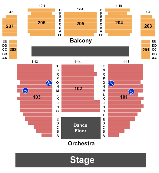 Arcada Theatre seating chart event tickets center