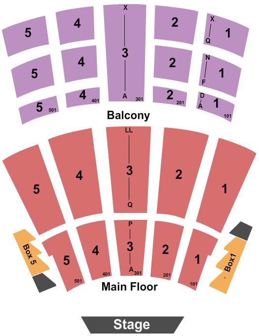 Arie Crown Theater Floor Plan