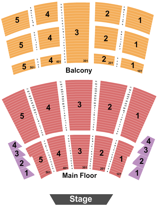 Arie Crown Theater Seating Map