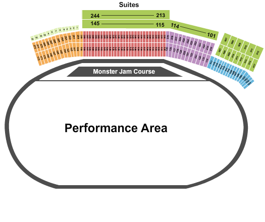 Atlanta Motor Speedway seating chart event tickets center