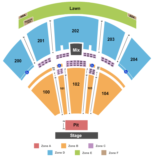 BB&T Pavilion seating chart event tickets center