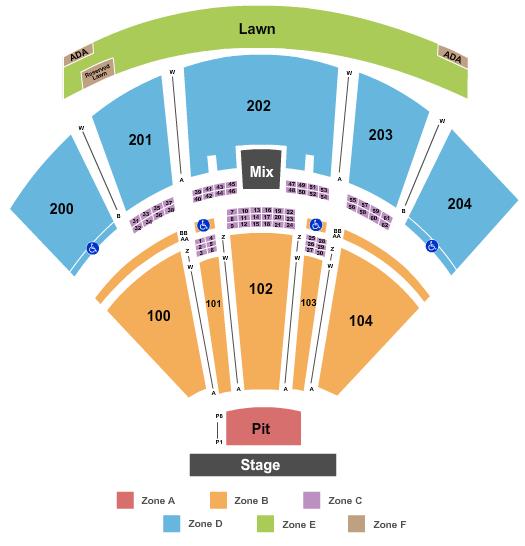 BB&T Pavilion Floor Plan