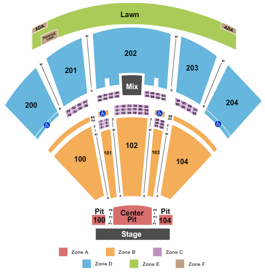 BB&T Pavilion Endstage Res Pits - Int Zone seating chart - eventticketscenter.com