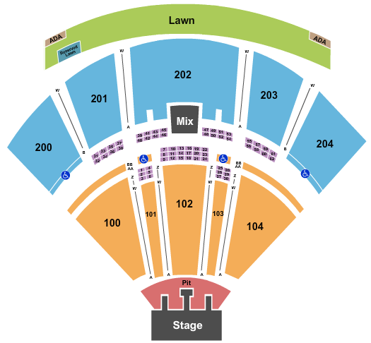 BB&T Pavilion The Lumineers seating chart - eventticketscenter.com