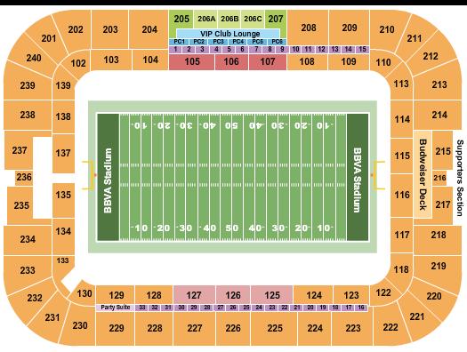 BBVA Stadium Football 2020 seating chart - eventticketscenter.com