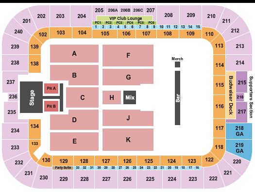 BBVA Stadium seating chart event tickets center
