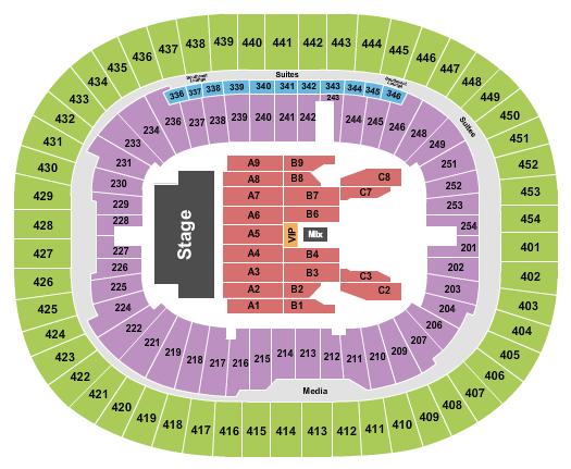 BC Place Stadium Floor Plan