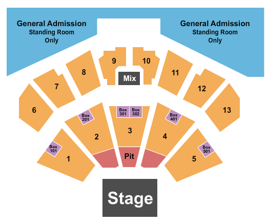 BMO Harris Pavilion Primus seating chart - eventticketscenter.com
