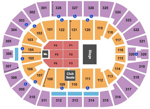 BOK Center Seating Chart Plan