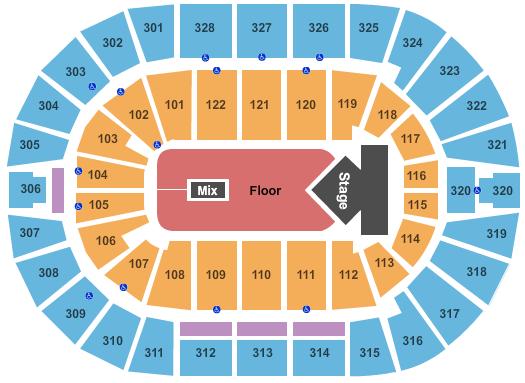 BOK Center seating chart event tickets center