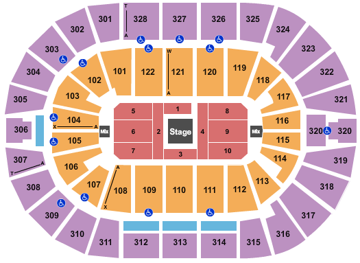 BOK Center seating chart event tickets center