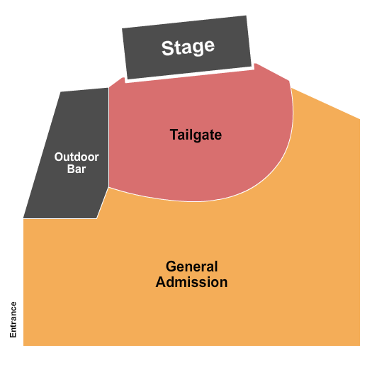Back Waters Stage at Q Casino and Hotel Floor Plan