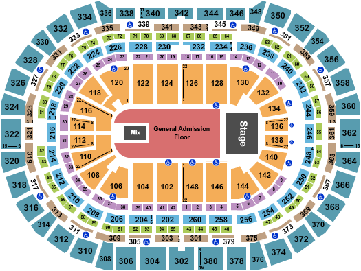 Ball Arena seating chart event tickets center