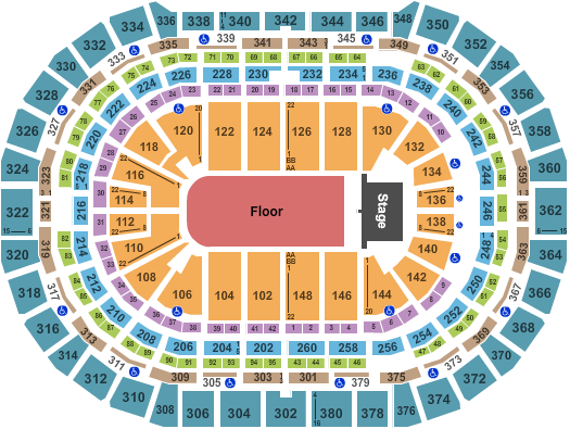 seating chart for Ball Arena Endstage GA 3 - eventticketscenter.com