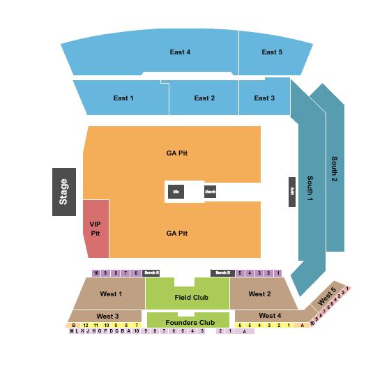 Banc of California Stadium Floor Plan