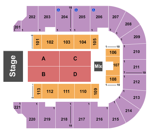 BancorpSouth Arena Floor Plan