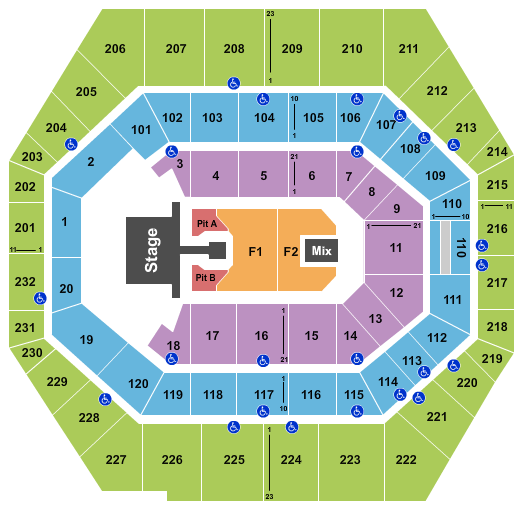 seating chart for Bankers Life Fieldhouse Kane Brown - eventticketscenter.com