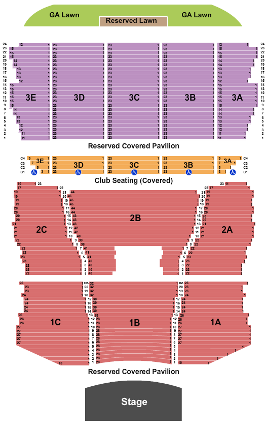 Bank of New Hampshire Pavilion Endstage Reserved Lawn seating chart - eventticketscenter.com
