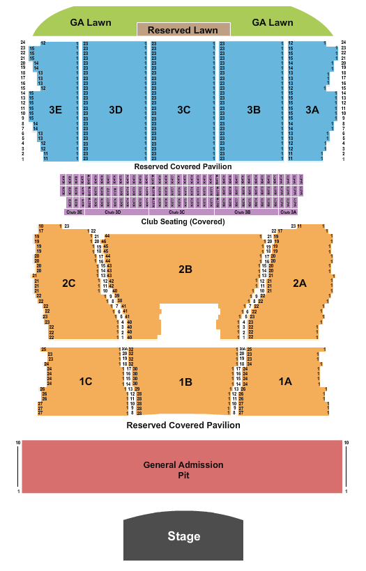 Bank of New Hampshire Pavilion seating chart event tickets center