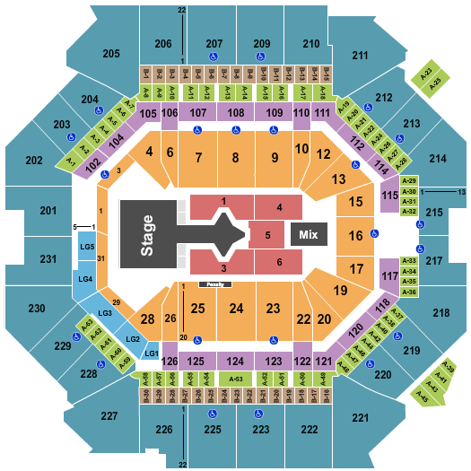 Barclays Center seating chart event tickets center