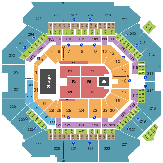 Barclays Center Seating Map