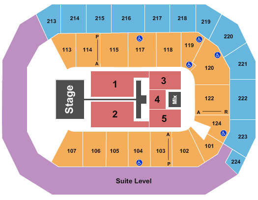 Baxter Arena seating chart event tickets center