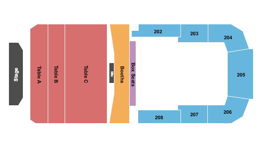 Bayou Music Center Seating Map