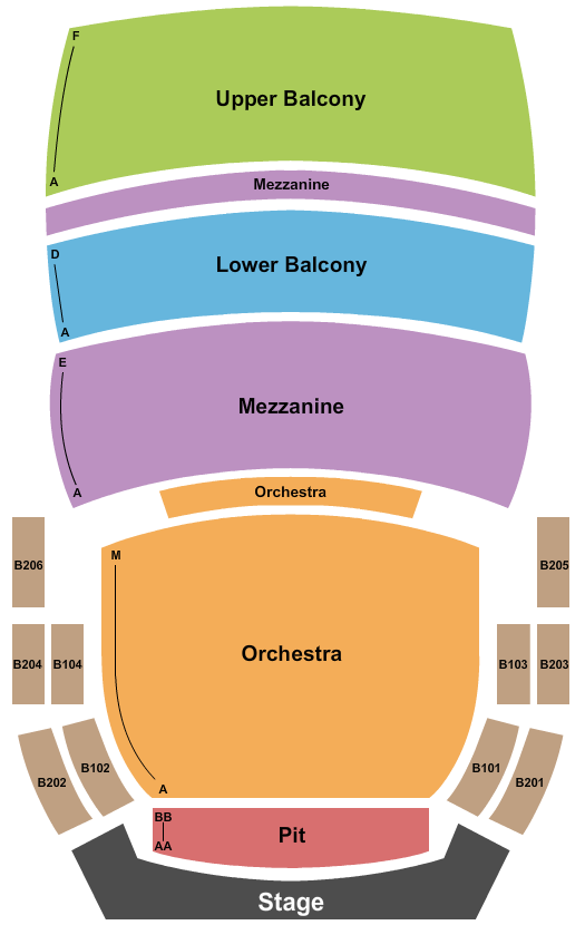 Bedell Performance Hall Seating Chart