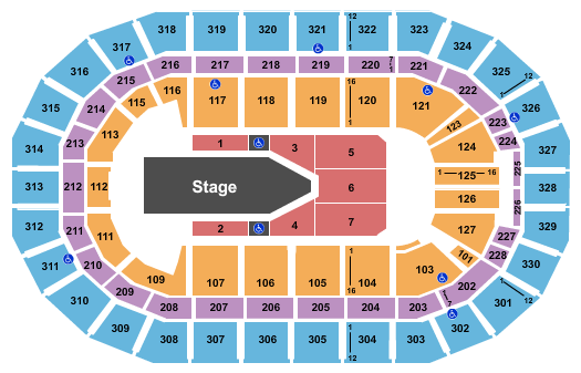 Bell MTS Place seating chart event tickets center