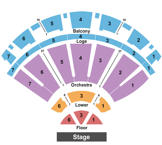 Bellco Theatre seating chart event tickets center