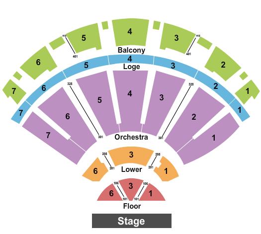 Bellco Theatre Floor Plan