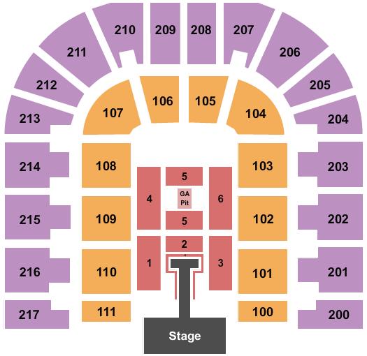 Bert Ogden Arena seating chart event tickets center