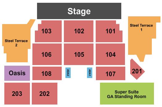 Bethlehem Musikfest - Wind Creek Steel Stage Floor Plan