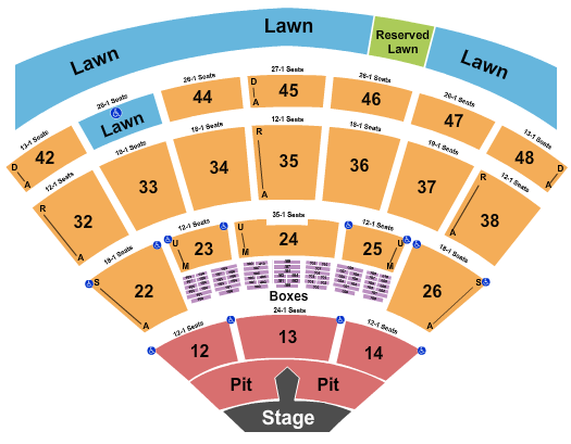 Blossom Music Center seating chart event tickets center
