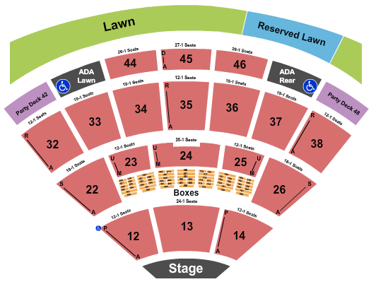 Blossom Music Center Endstage Res Lawn Right seating chart - eventticketscenter.com