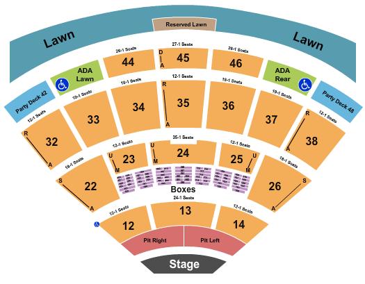 Blossom Music Center Floor Plan