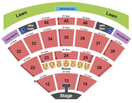 Blossom Music Center Rascal Flatts seating chart - eventticketscenter.com