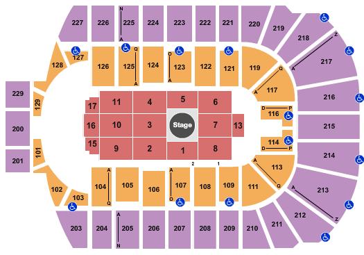 Blue Cross Arena Floor Plan