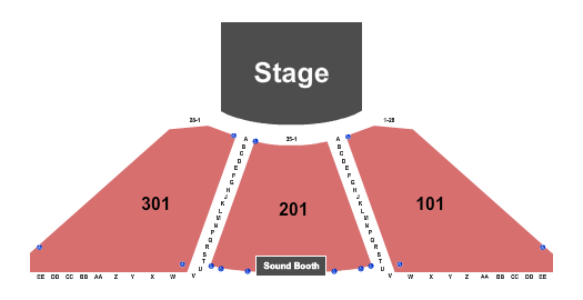 Blue Gate Performing Arts Center seating chart event tickets center