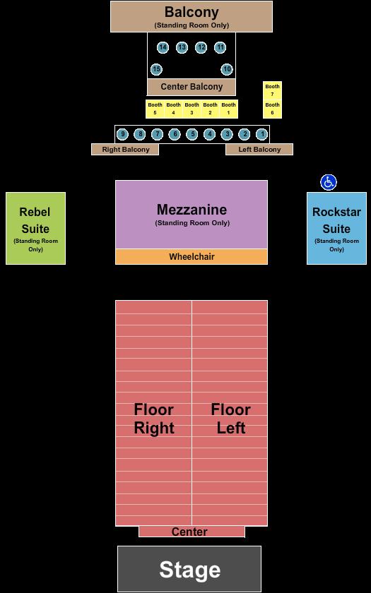 seating chart for Bogarts Reserved 2 - eventticketscenter.com