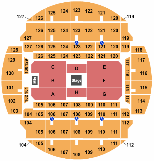 Bojangles Coliseum seating chart event tickets center