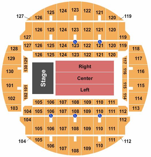 Bojangles Coliseum seating chart event tickets center