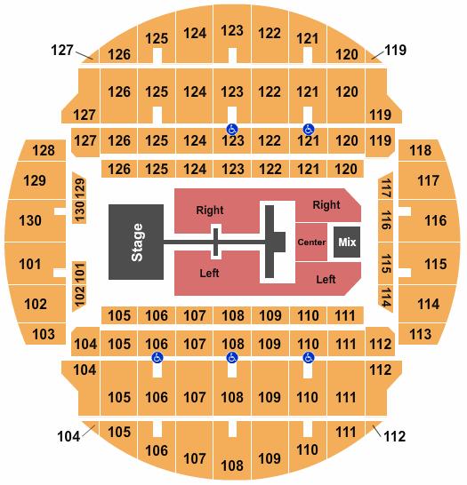 Bojangles Coliseum Floor Plan