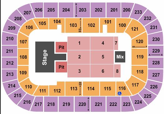 Bon Secours Wellness Arena Floor Plan