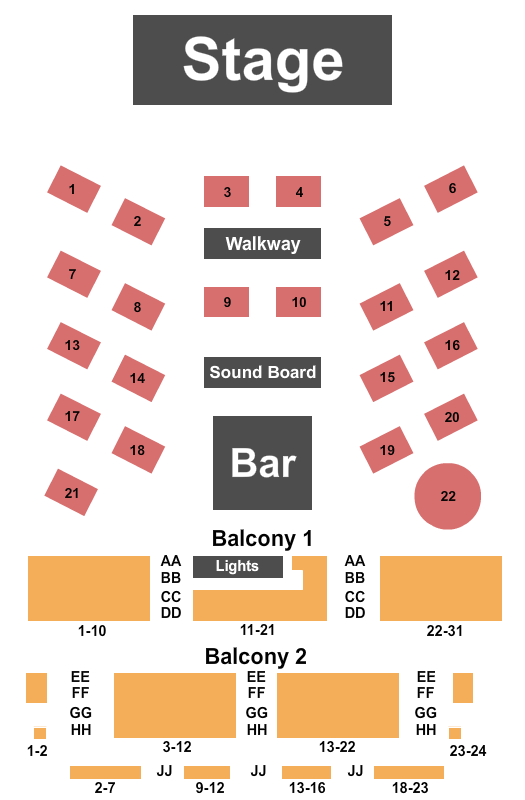 seating chart for Boulder Theater Trace Bundy - eventticketscenter.com