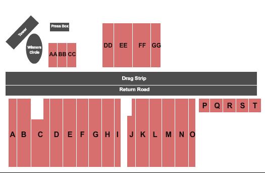 Brainerd International Raceway Seating Map