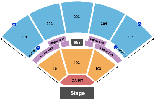 Brandon Amphitheater seating chart event tickets center