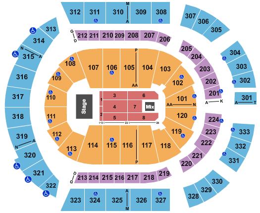 Bridgestone Arena Floor Plan