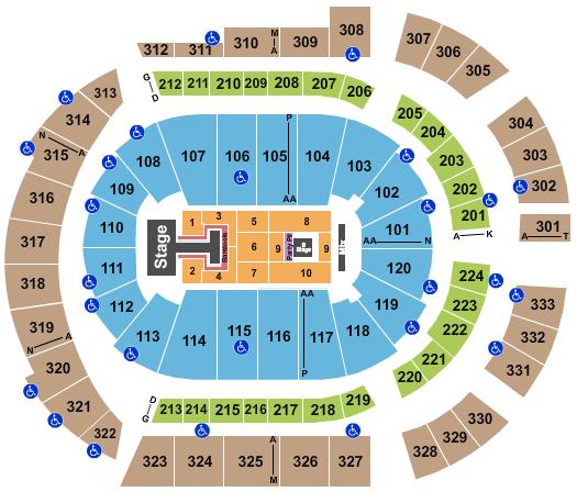 Bridgestone Arena seating chart event tickets center