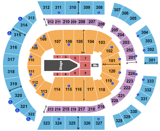 Bridgestone Arena The Weeknd seating chart - eventticketscenter.com